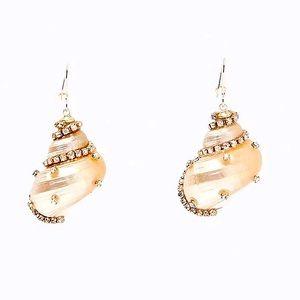 🔆3/$30 New Zara Embellished Conch Shell Earrings